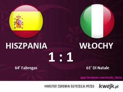 Mecz Hiszpania - Włochy