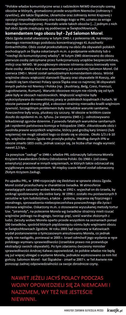 Żydzi i obozy dla Polaków.