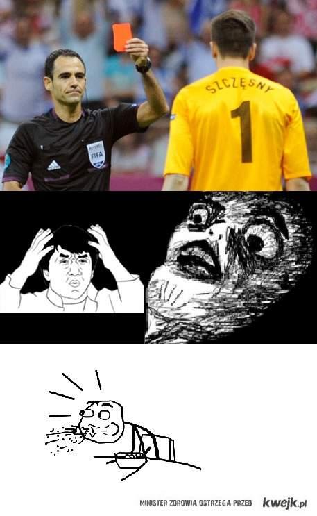 Mecz otwarcia Euro 2012 i reakcja osób siedzących obok mnie