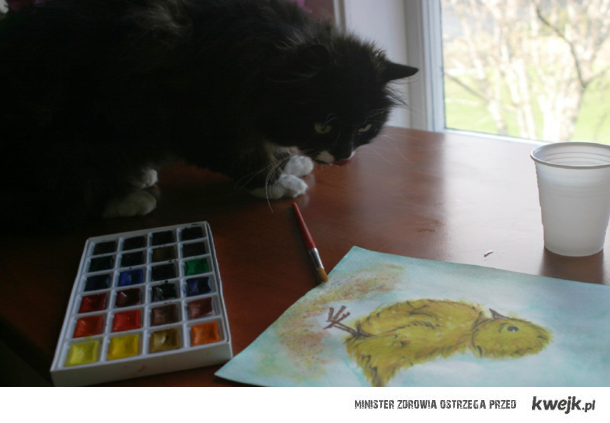 Maluje swoje marzenia