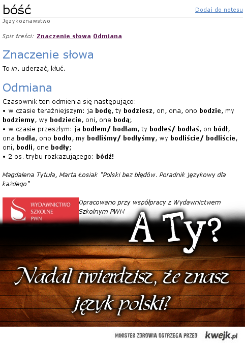 Znasz polski?