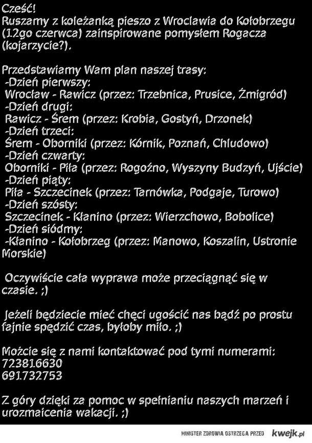 Wrocław - Kołobrzeg (piesza wyprawa)