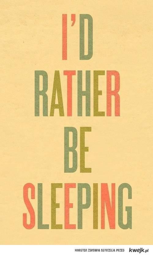 Wolę spać