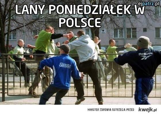 Lany poniedziałek w Polsce
