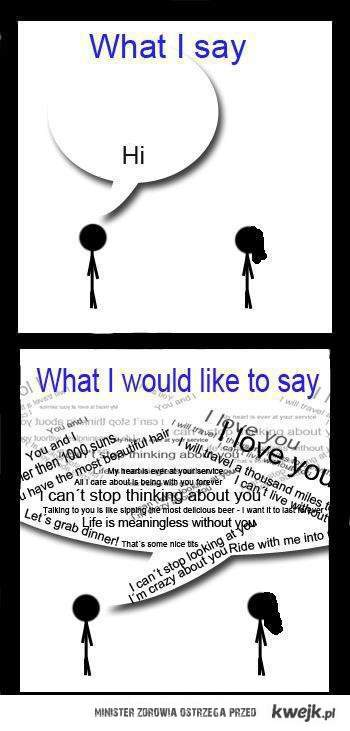 What I say...