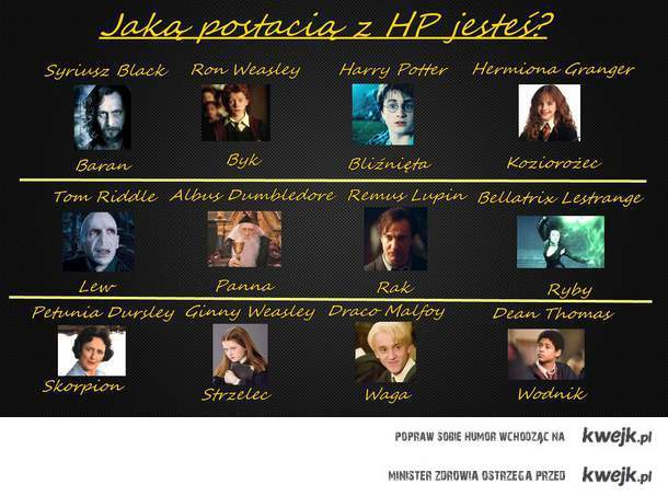 harry potter postacie