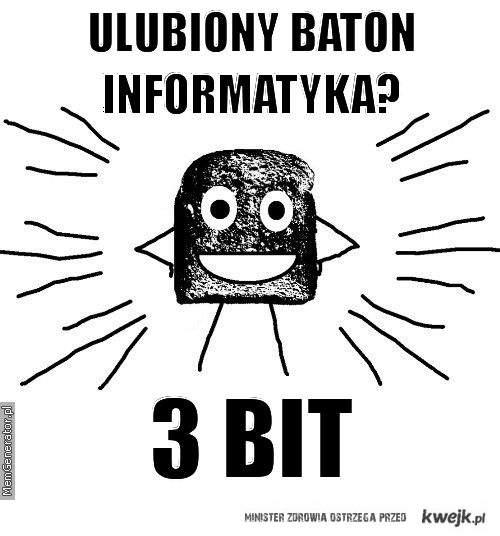 Ulubiony baton informatyka
