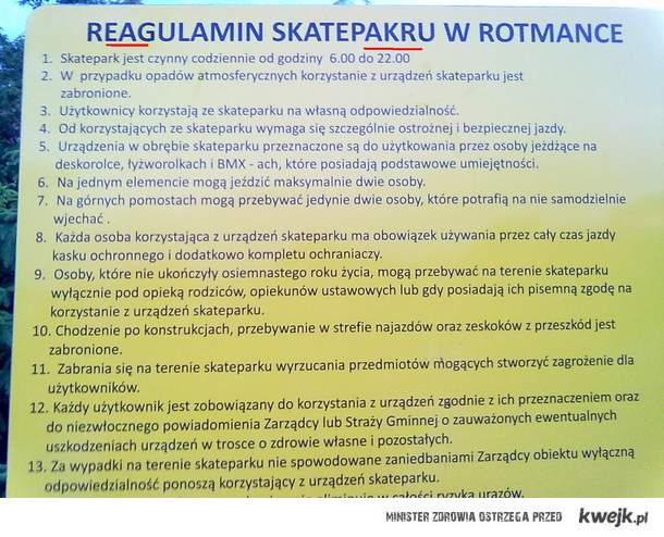 reAgulamin skatepaKru