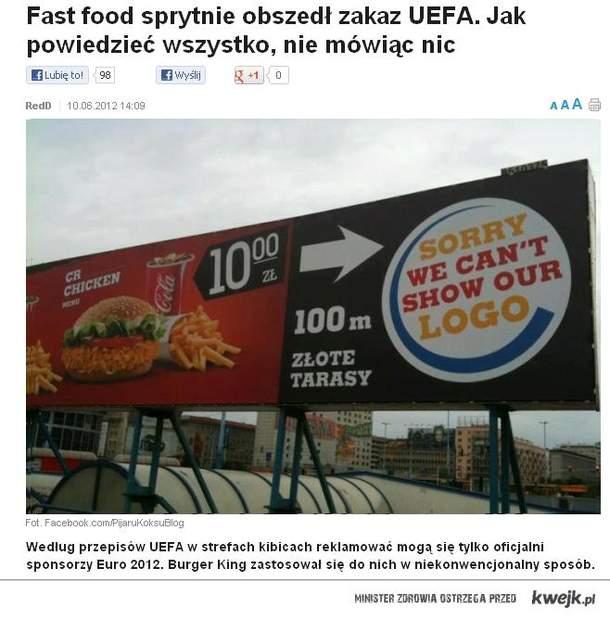 Burger Kong wykiwał UEFA