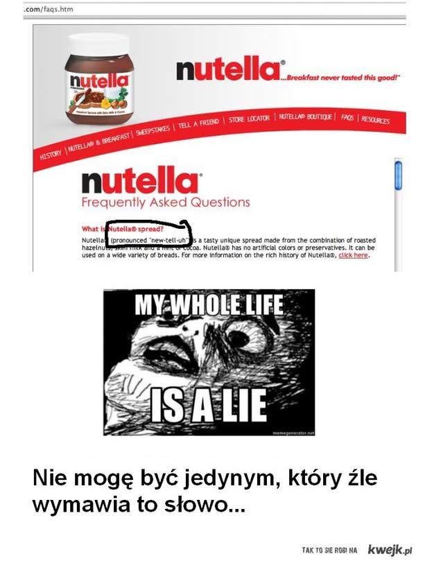 Nutella - jak wymawiać?