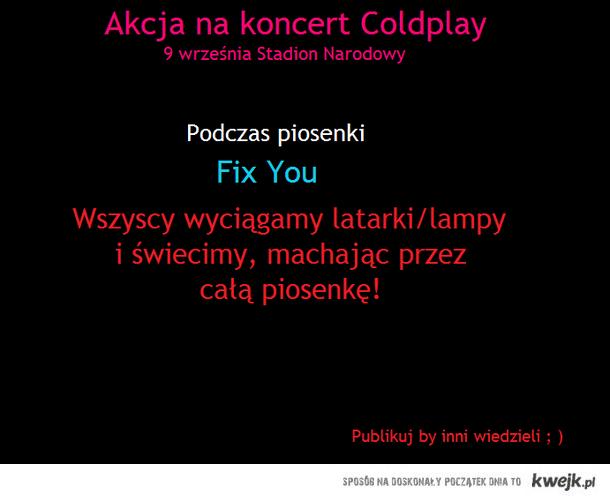 Akcja na koncert Coldplay w Polsce