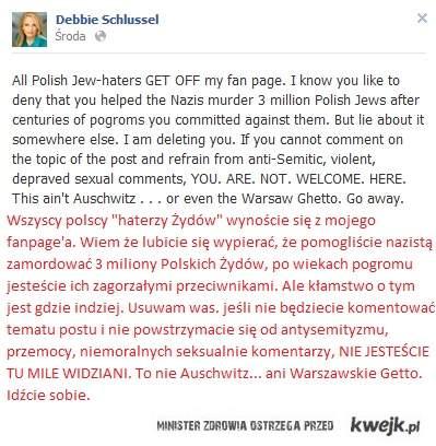 Odpowiedź Debbie Schlussel