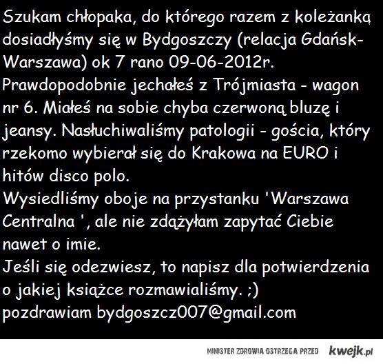 Pilne- Warszawa Centralna!