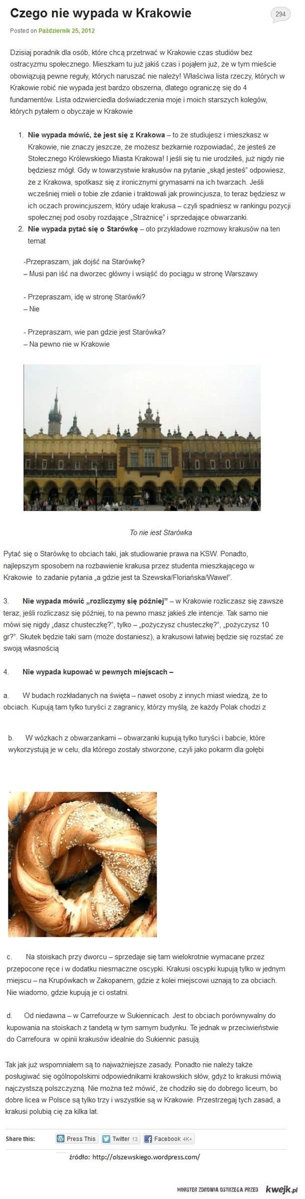 Czego nie wypada w Krakowie