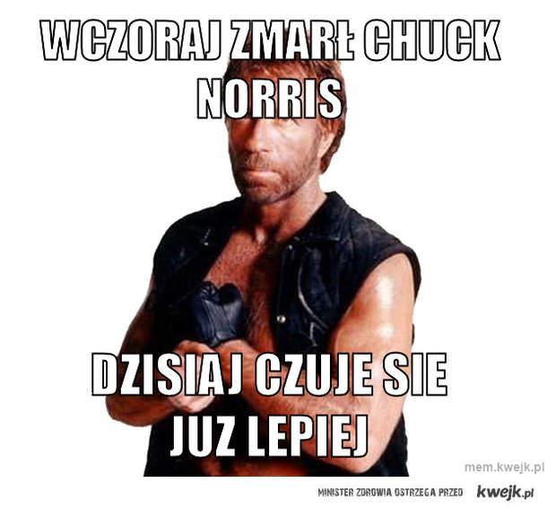 Wczoraj zmarł chuck norris