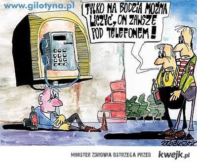 pod telefonem