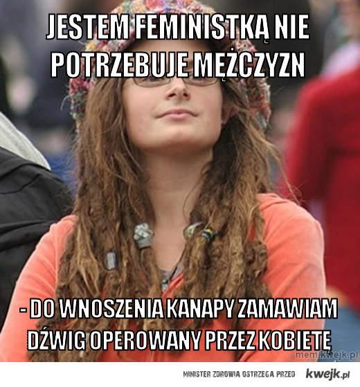 jestem feministką nie potrzebuje mężczyzn