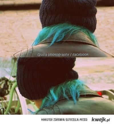 Turkusowe włosy zawsze spoko ;]