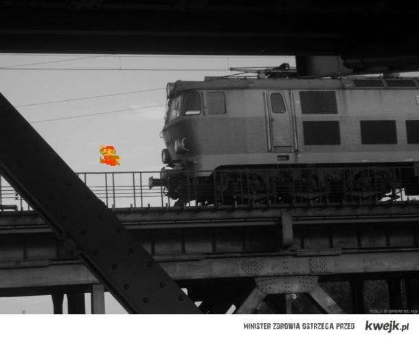 Mario na Moscie Gdanskim / Pixels in Warsaw