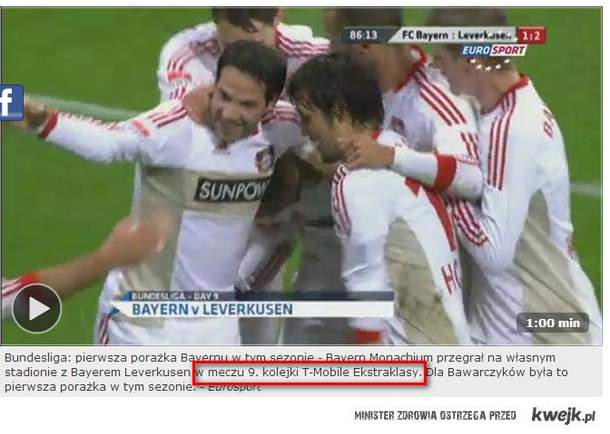 Bayern Monachium & Bayer Levercusen w TMobile Ekstraklasie