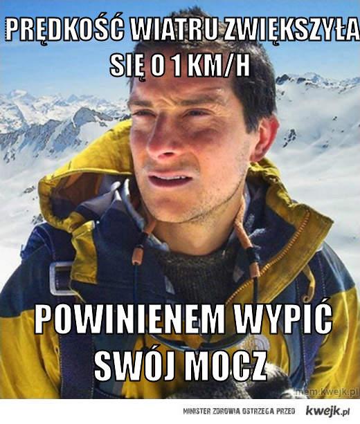prędkość wiatru zwiększyła się o 1 km/h