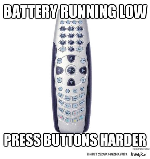 baterie same się nie naładują