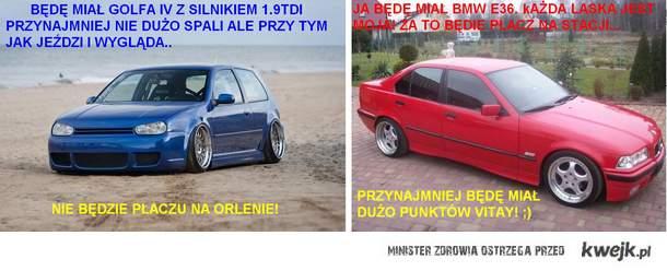 Golf IV vs. BMW e36