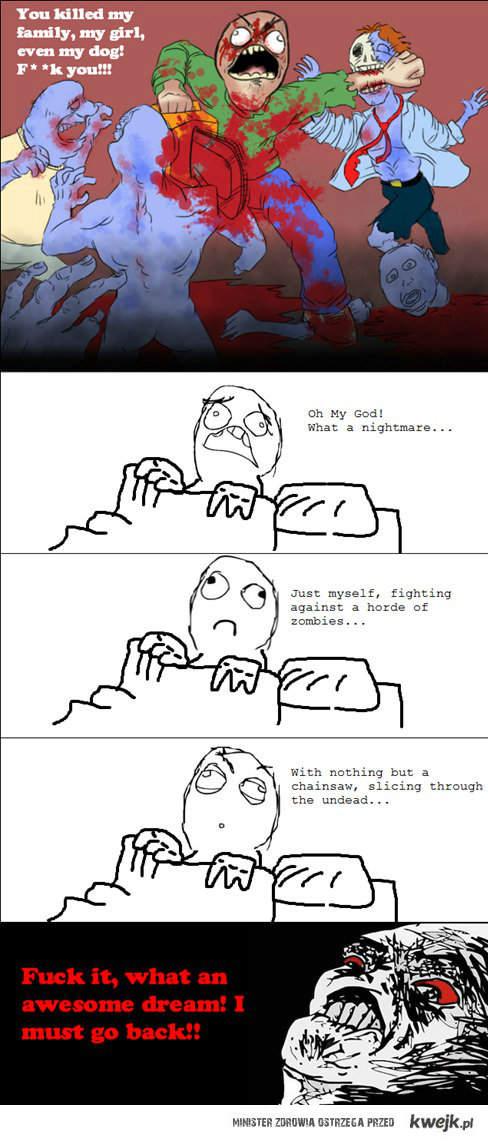 musze wrocic do snu!