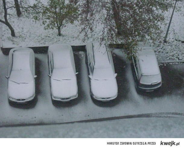 Chcieliście kurwa śniegu w październiku?