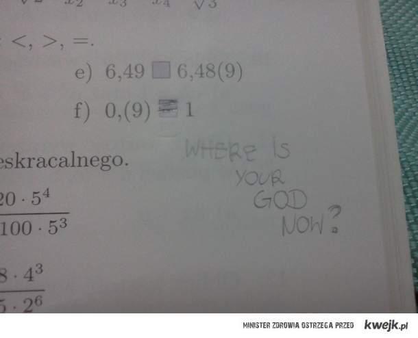 La lekcja matematyki - that's true