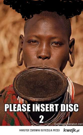 insert disc