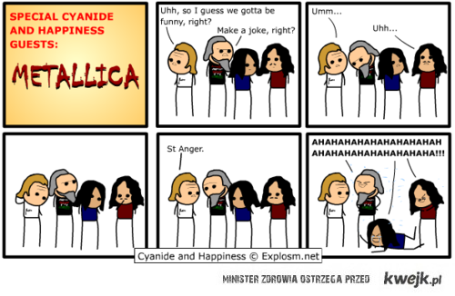Metallica potrafi żartować