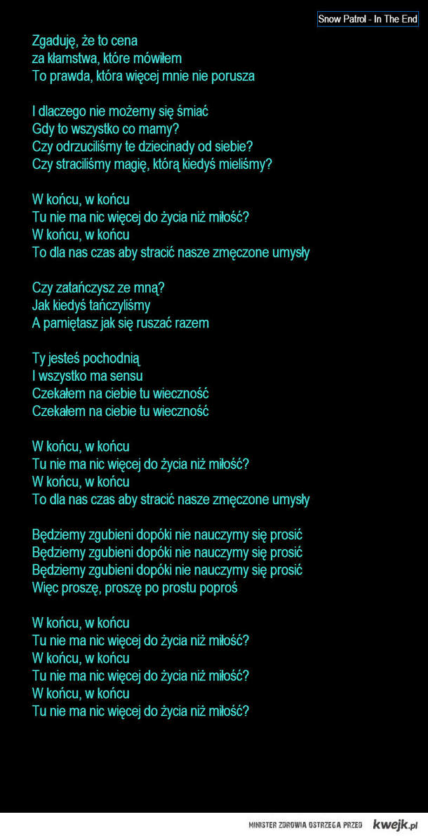 Snow Patrol <3