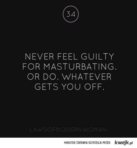 nigdy nie czuj sie winnym