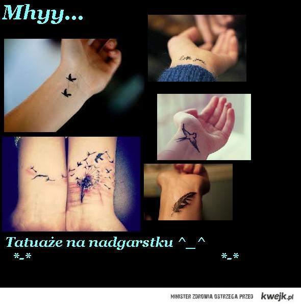 Tatuaże na nadgarstku i ♥ it
