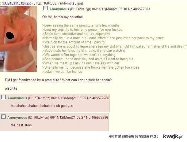 zfriendzonowany przez prostytutkę
