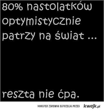 80% natolatków
