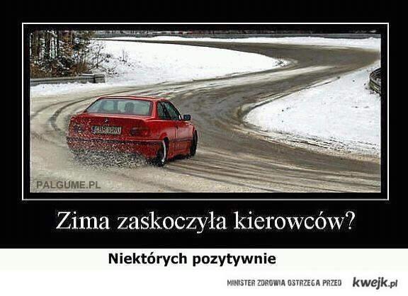 zima zaskakuje kierowców