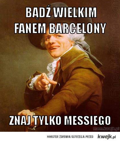 bądź wielkim fanem barcelony