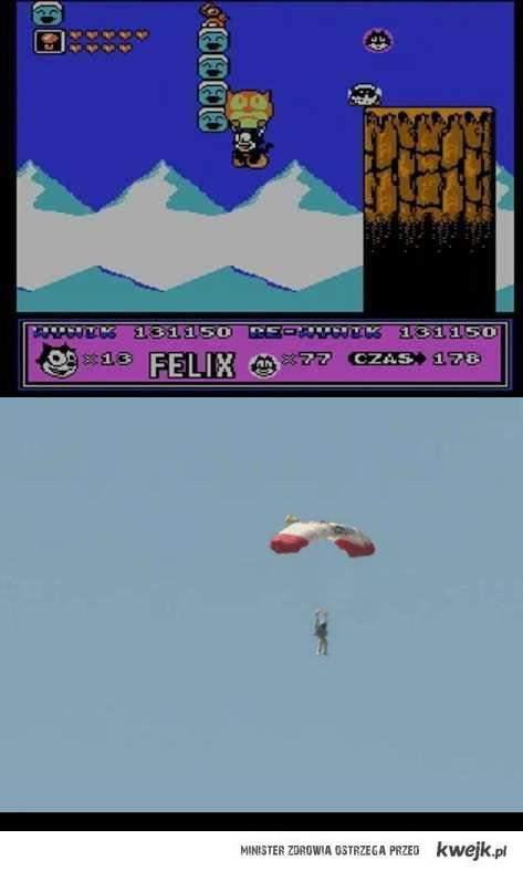 Lata upływają a Felix dalej skacze ze spadochronem :)