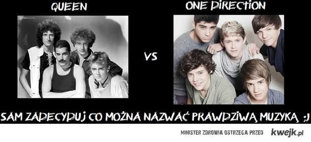 QUEEN vs One Direction