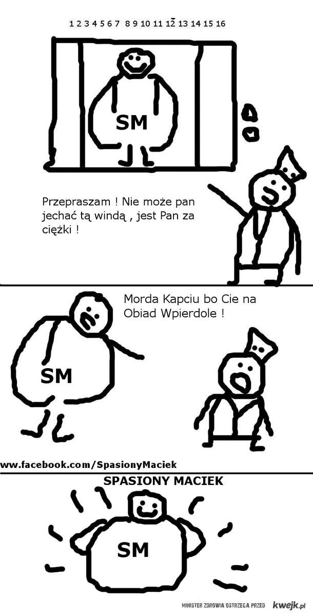 Spasiony Maciek i Przygoda w Windzie