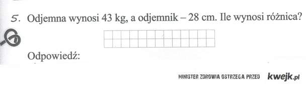 odejmij kg od cm :D