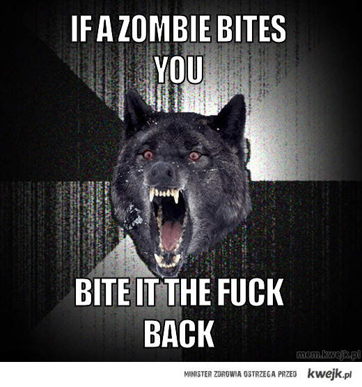 if a zombie bites you
