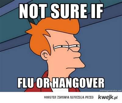 grypa czy kac