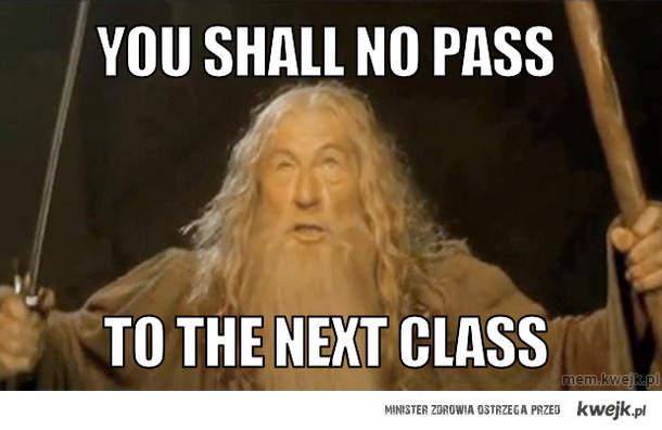 You shall No pass