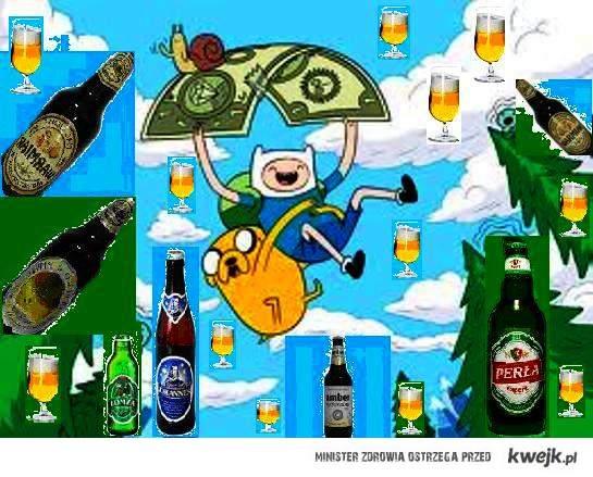 It's raining beer!