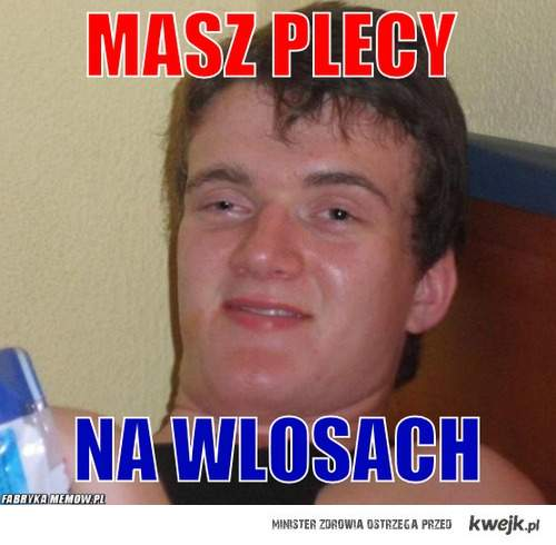 WLOSY NA PLECACH