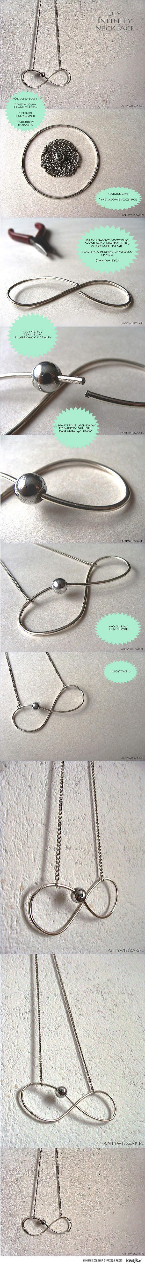 diy infinity necklace