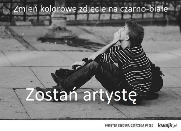 Zmień zdjęcie kolorowe na czarno-białe, zostań artystę